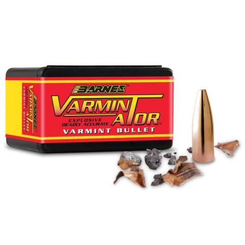 "Barnes 6mm (.243"") 72 Gr. Hollow Point Flat Base Varminator Bullets (Box of 100) - Precision Reloading"